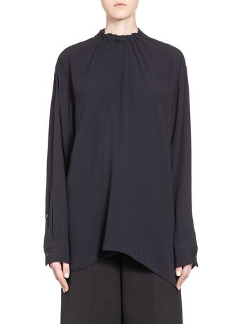 Marni Blouse in crepe-back satin with drawstring Woman