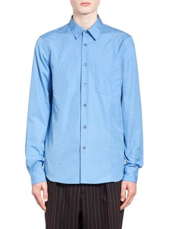Marni Shirt in twisted cotton with decorative stitching Man
