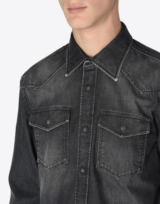 MAISON MARGIELA 10 Black denim shirt Denim shirt U a