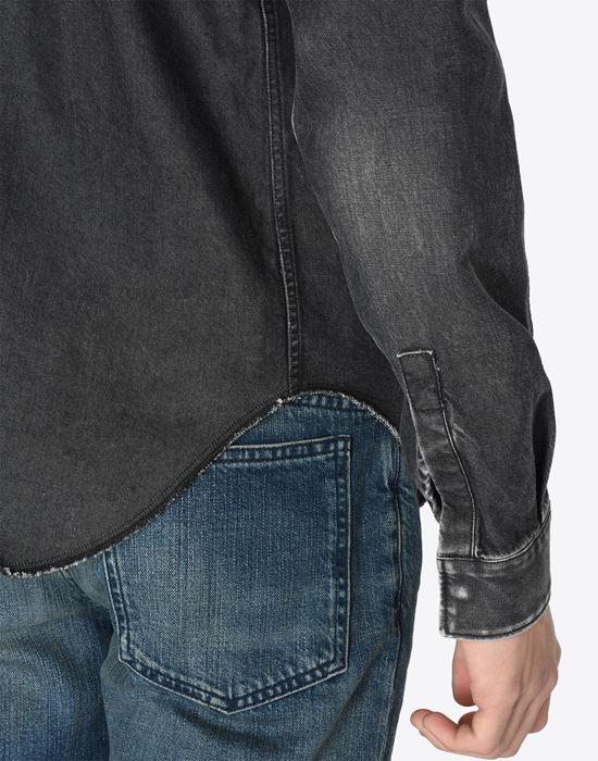 MAISON MARGIELA 10 Black denim shirt Denim shirt U b