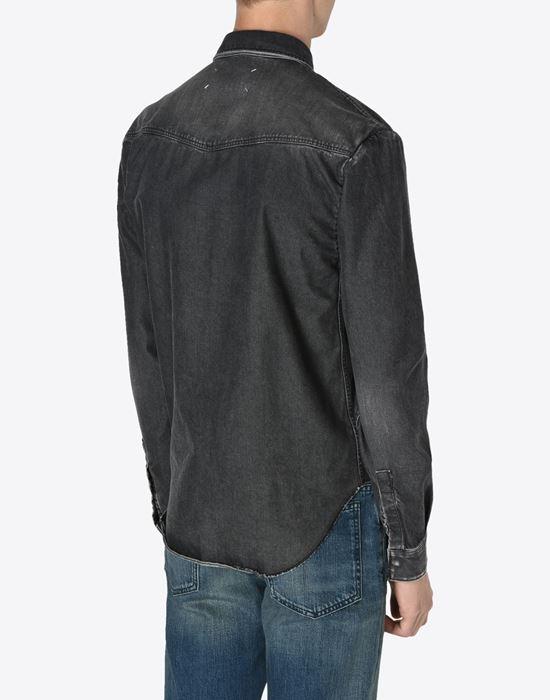 MAISON MARGIELA 10 Black denim shirt Denim shirt U e