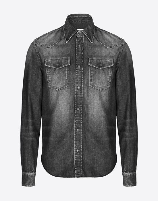 MAISON MARGIELA 10 Black denim shirt Denim shirt U f