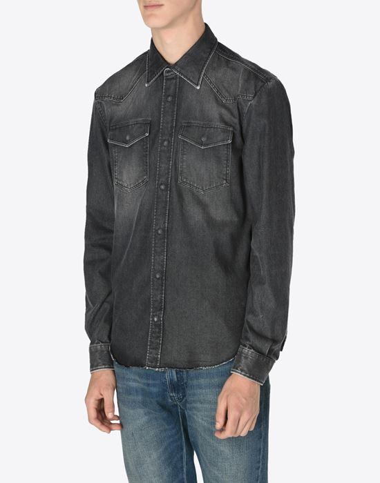 MAISON MARGIELA 10 Black denim shirt Denim shirt U r