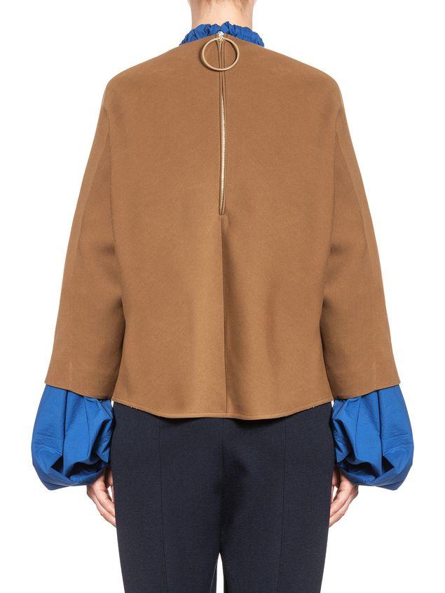 Marni Runway kimono blouse in wool and silk  Woman