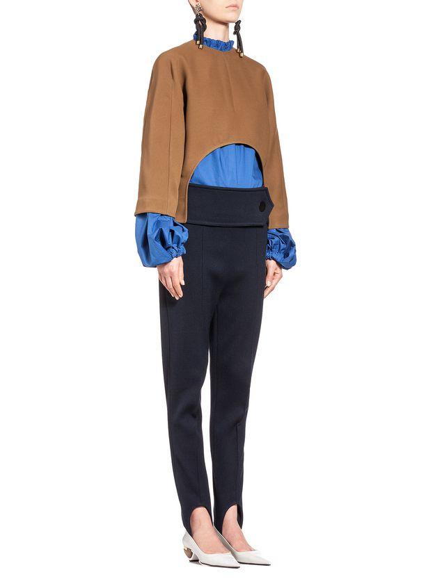 Marni Runway kimono blouse in wool and silk  Woman - 4