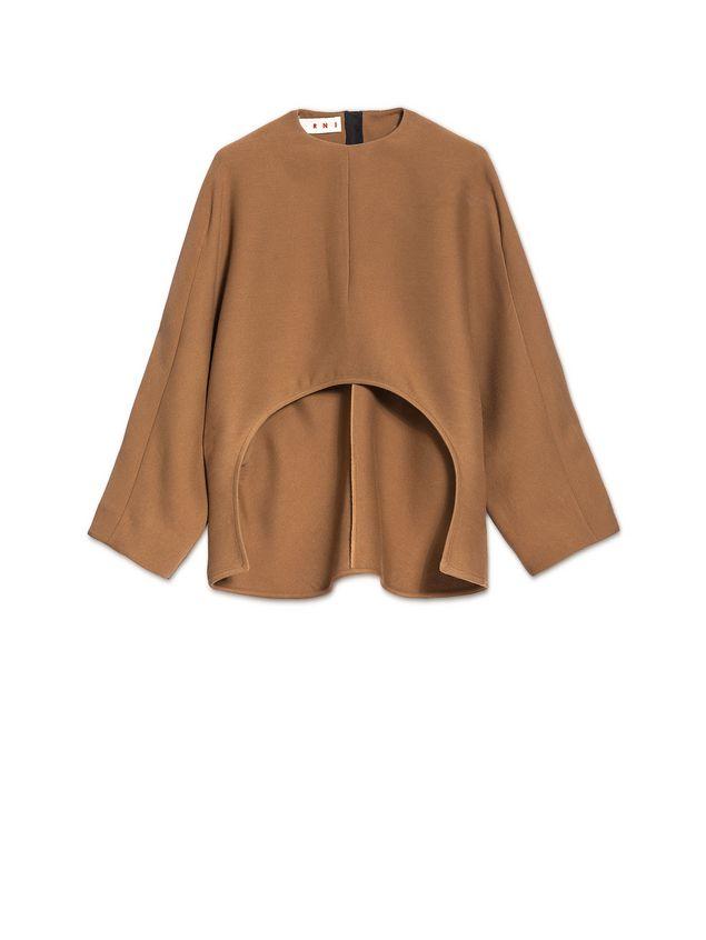 Marni Runway kimono blouse in wool and silk  Woman - 2