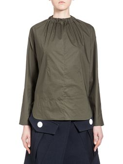 Marni Runway shirt in coated poplin Woman