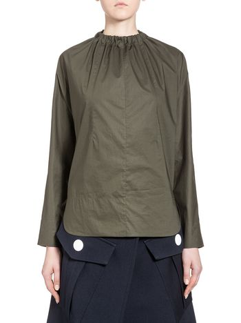Marni Runway shirt in coated poplin Woman