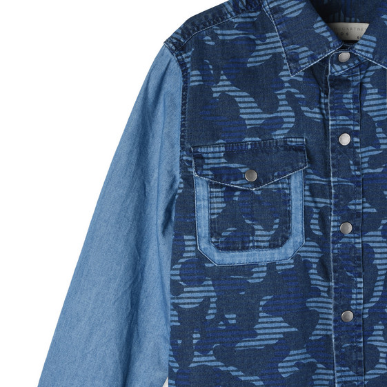 Blue Camo Samuel Shirt