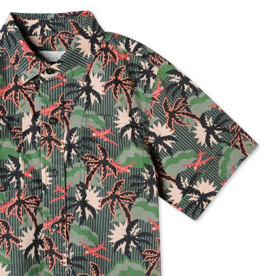Khaki Hawaiian Print Rowan Shirt