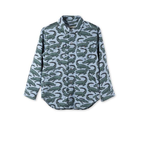 Blue Croc Print Melvil Shirt