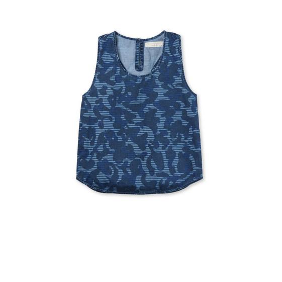 Blue Camo Print Kiri Top