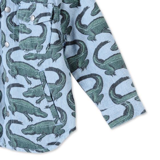 Striped Croc Print Enzo Jacket