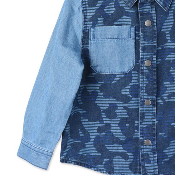 Blue Camo Print Samuel Shirt