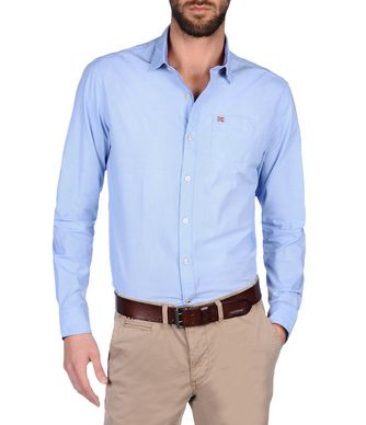 NAPAPIJRI GARBORD MAN LONG SLEEVE SHIRT,SKY BLUE
