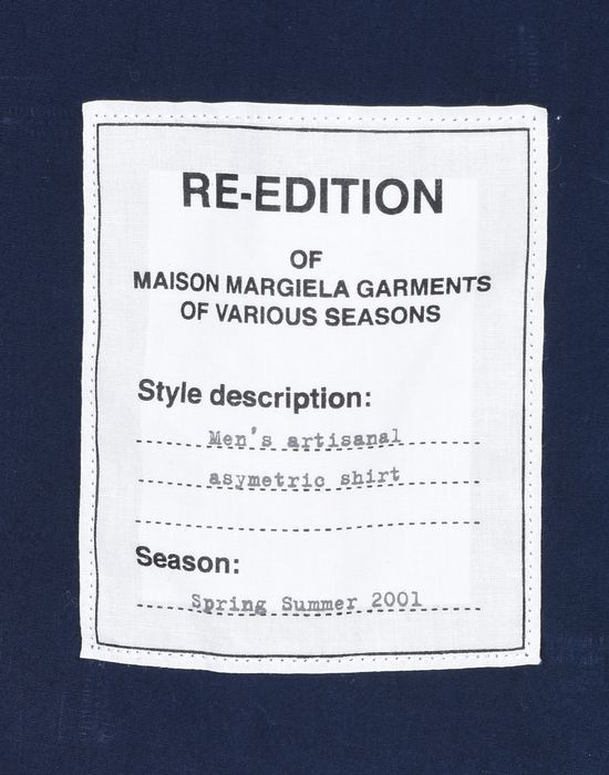 MAISON MARGIELA 14 'Re-edition' loose fit shirt Long sleeve shirt U b