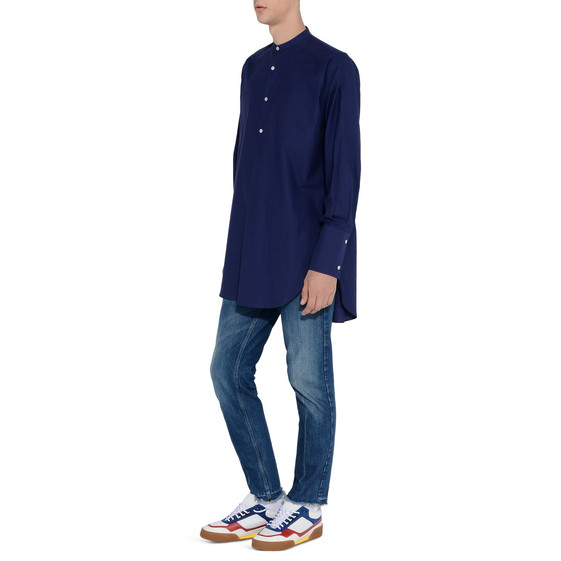 Blue Washed Cotton Shirt