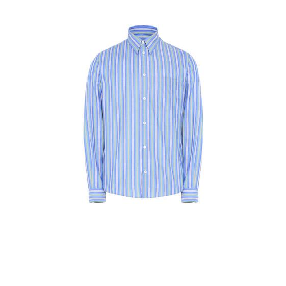 パジャマ ストライプ シャツ