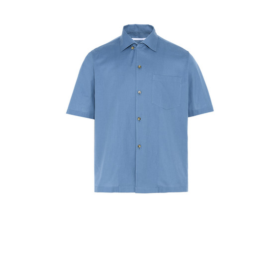 Azure Cotton Piqué Shirt