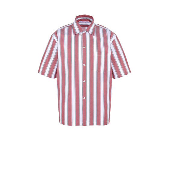 Red Pajama Striped Shirt