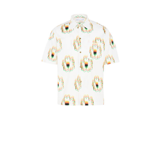 Psychedelic Flower Print Shirt
