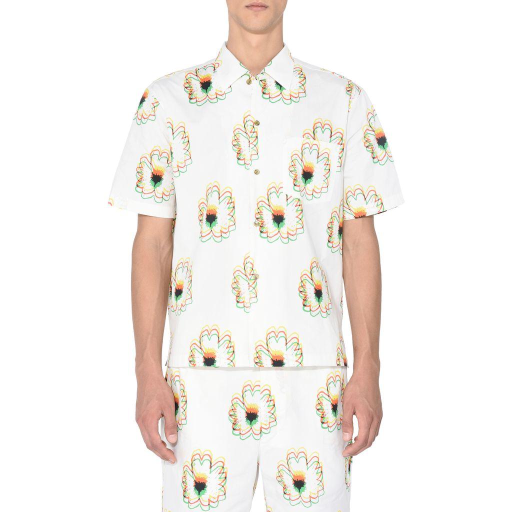 Psychedelic Flower Print Shirt  - STELLA McCARTNEY MEN