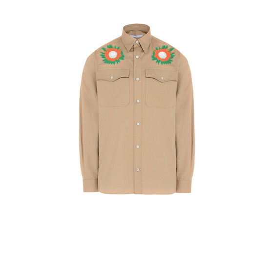 Ginger Embroidered Cotton Shirt