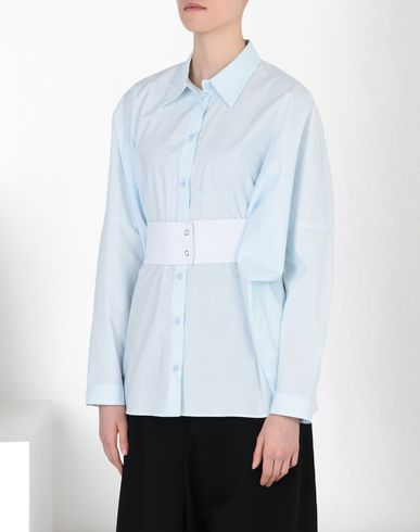 MM6 by MAISON MARGIELA Long sleeve shirt D Elastic waistband poplin shirt f