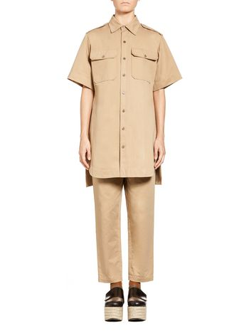 Marni Blouse-dress in cotton-and-linen drill Woman