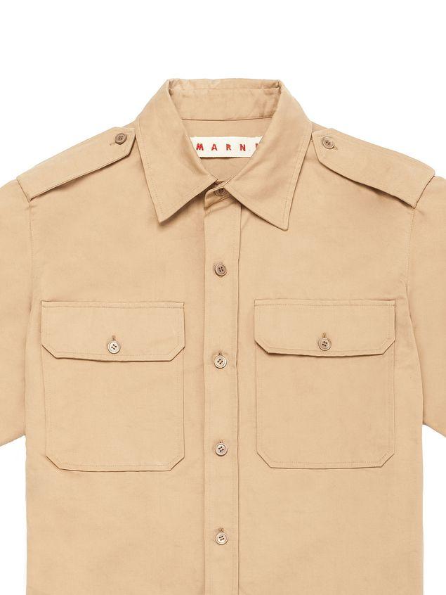 fashion pre order on wholesale Robe Chemisier En Drill De Coton Et Lin Marni Femme ...