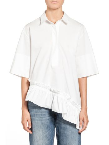 Marni Ruffled blouse in crispy cotton Woman