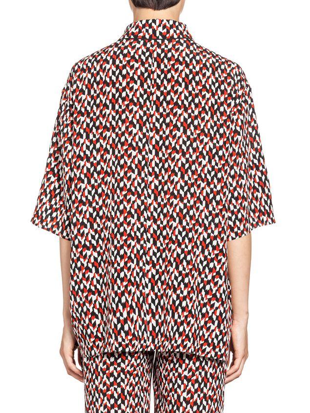 Marni Blouse in silk crepe Crinkle print Woman