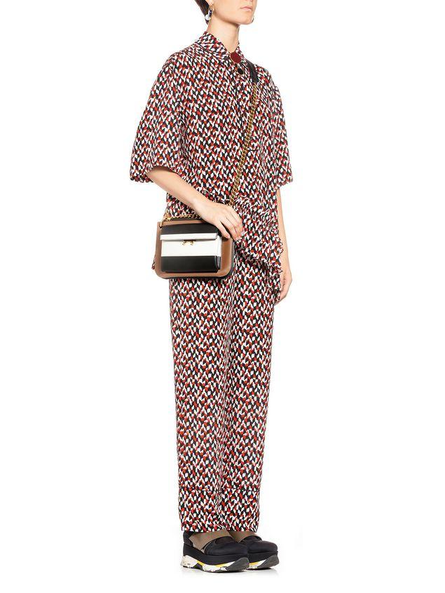 Marni Blouse in silk crepe Crinkle print Woman - 5