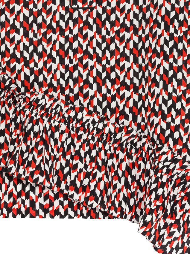 Marni Blouse in silk crepe Crinkle print Woman - 4