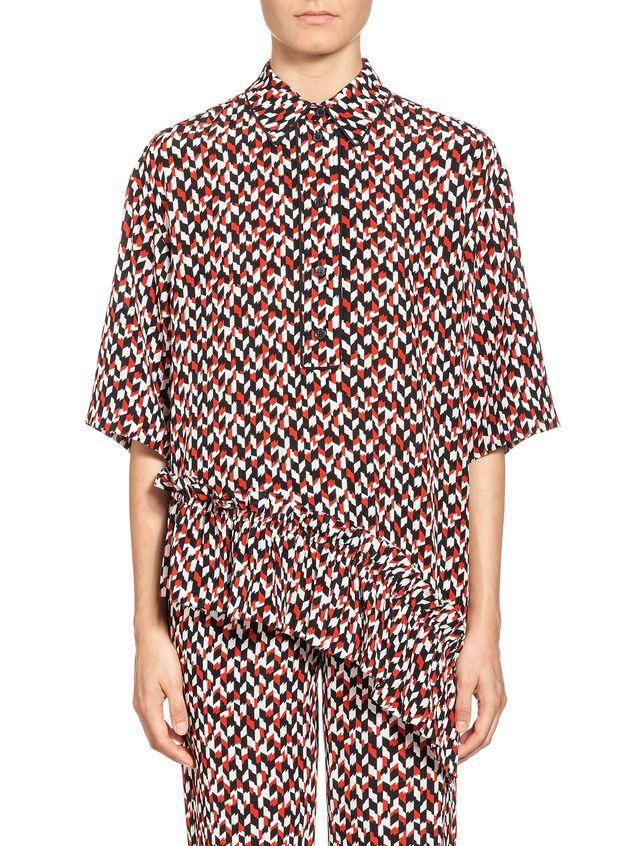 Marni Blouse in silk crepe Crinkle print Woman - 1