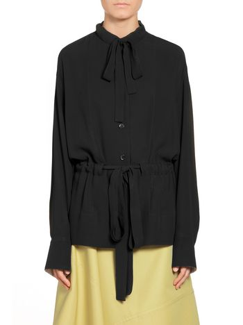 Marni Blouse in crepe envers satin with drawstring Woman