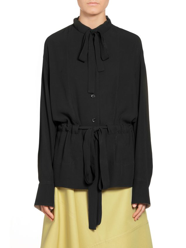394b5ee4bb5 Blouse In Crepe Envers Satin With Drawstring from the Marni Spring ...