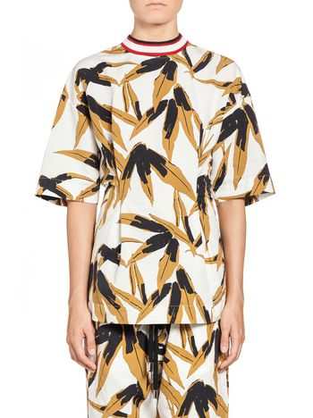 Marni Blouse in cotton and linen Swash print Woman