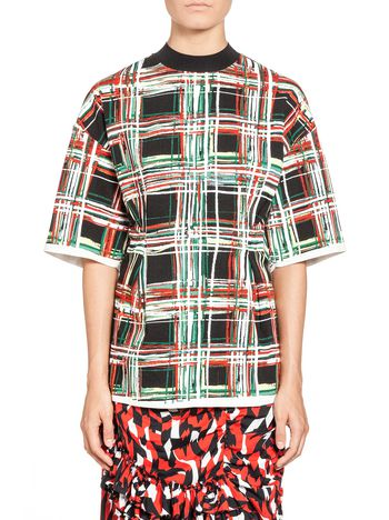 Marni Blouse in cotton and linen Scribble print Woman