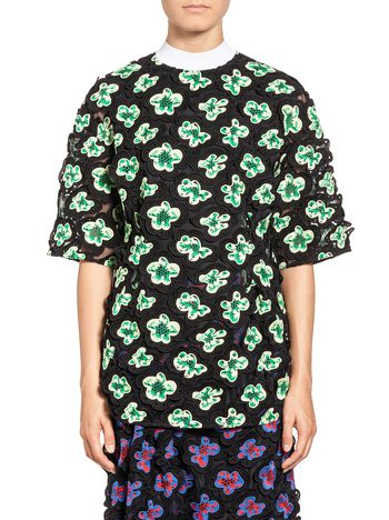 Marni Blouse in 3D floral macramé with undertop Woman