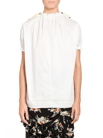 Marni Blouse in crispy cotton with drawstring Woman