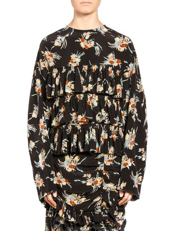 Marni Blouse in Rustle silk crepe Woman