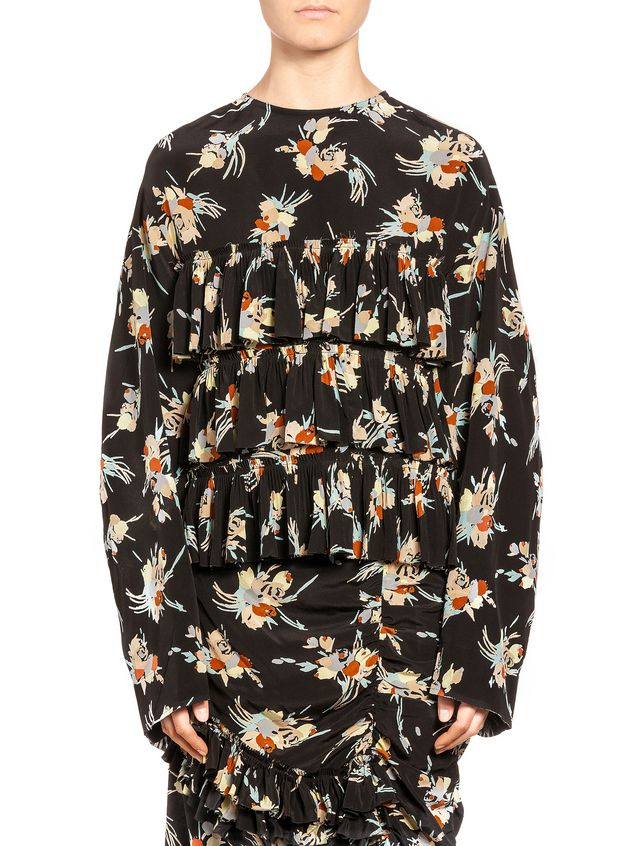 Marni Woman Printed Silk Top Red Size 38 Marni Original Cheap Online From China Free Shipping Free Shipping Inexpensive For Nice For Sale 7tGWXWhF2o
