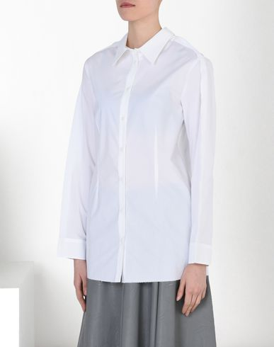 MM6 by MAISON MARGIELA Long sleeve shirt D Poplin shirt with back pockets f