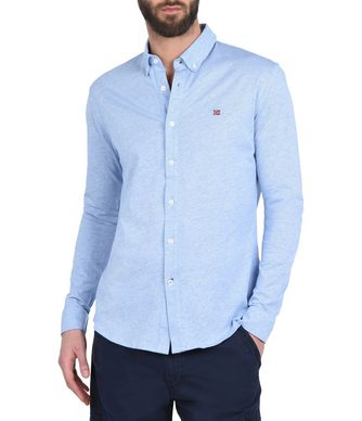 NAPAPIJRI GILA MAN LONG SLEEVE SHIRT,SKY BLUE