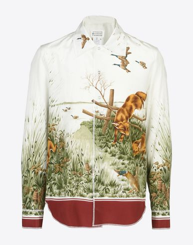 MAISON MARGIELA 10 Foxes printed silk shirt Long sleeve shirt U f