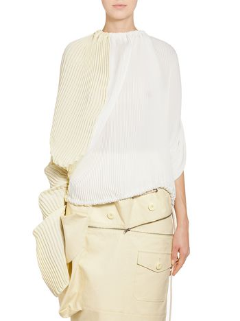 Marni Runway blouse in silk crepe and cotton Woman