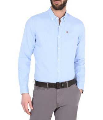 NAPAPIJRI GUERRERO MAN LONG SLEEVE SHIRT,SKY BLUE