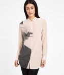 KARL LAGERFELD Camicia in Seta Photo Print 8_f