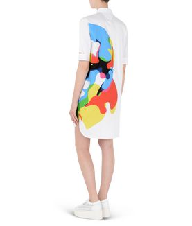 KARL LAGERFELD PRINTED POPLIN SHIRT DRESS